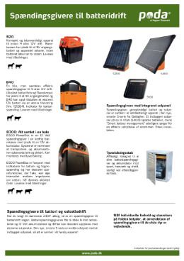 Spændingsgivere, batteridrevet