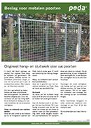Beslag voor metalen poorten