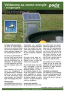 Veldpomp op zonne-energie - drukgeregeld