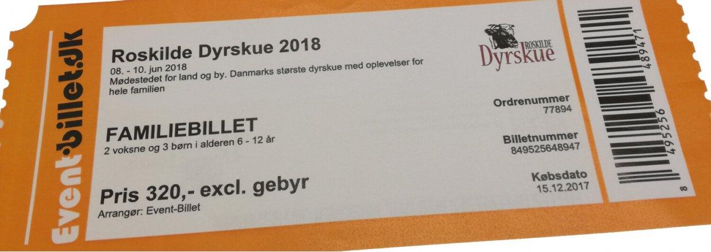 Vind familiebilletter til Roskilde Dyrskue