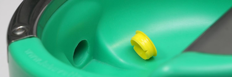Udsnit af indersiden af en helårsdrikkekop | Poda Hegn