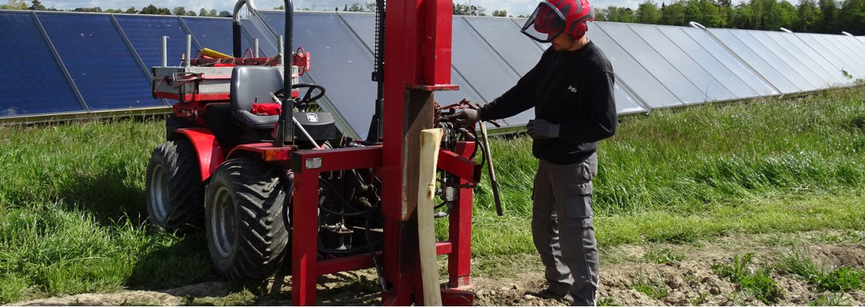 Montering af stolper til hegn