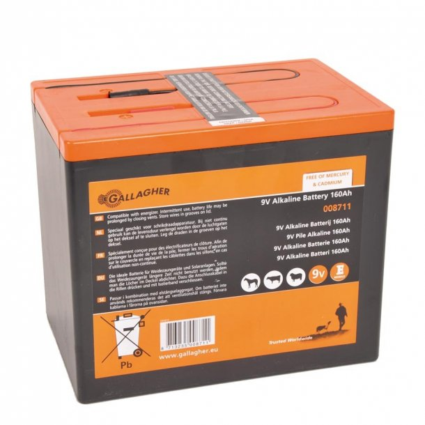 Batteri 9 V 160 Ah alkaline