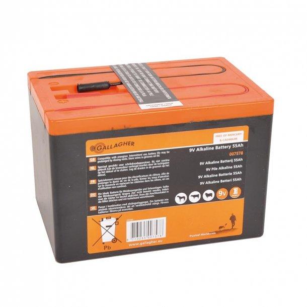 Batteri 9V 55Ah alkaline