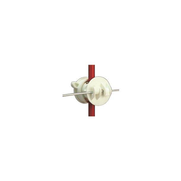 Isolator för järnstolpe, vit, 10 st