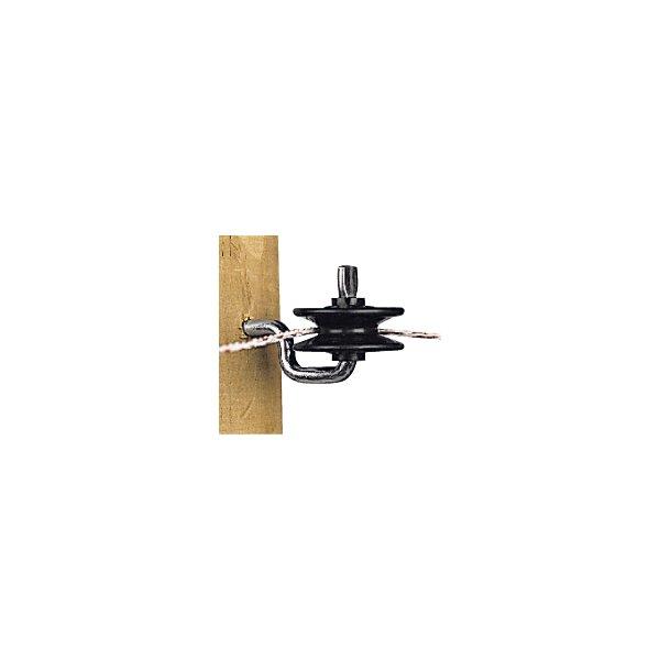 Rulleisolator m/skrue, sort, 5 stk
