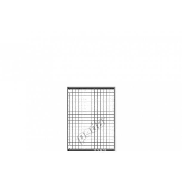 Letvægtslåge m. gitter H160xL120cm