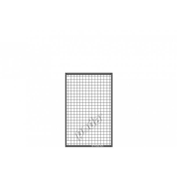 Letvægtslåge m. gitter H190xL120cm