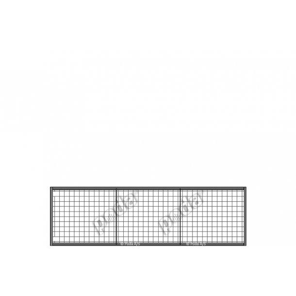 Letvægtslåge m. gitter H90xL300cm