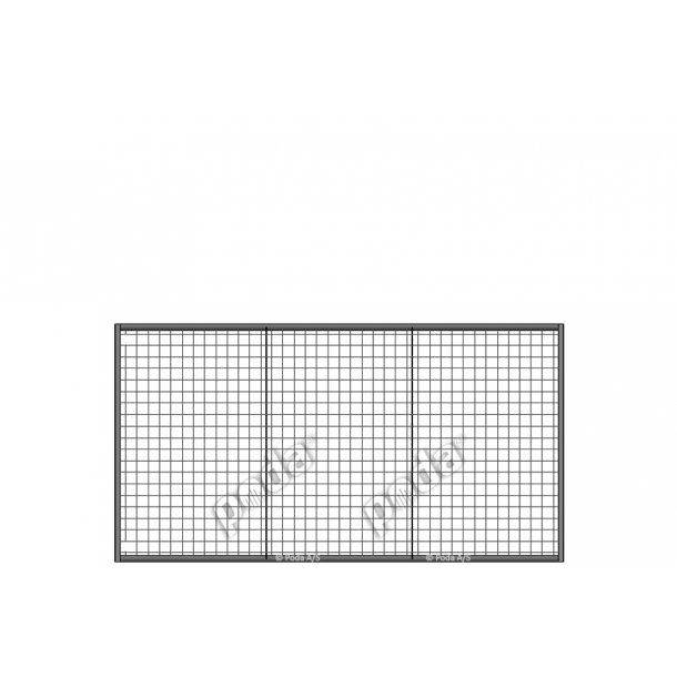 Letvægtslåge m. gitter H160xL300cm