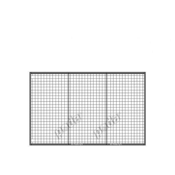 Lättviktsgrind med rutnät H190xL300cm