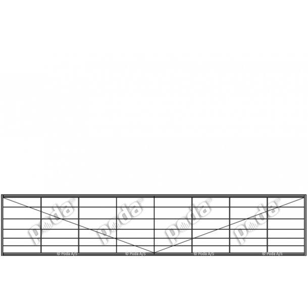 Letvægtslåge H90xL450cm