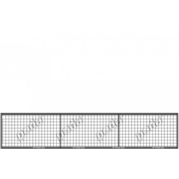 Lättviktsgrind med rutnät H90xL450cm