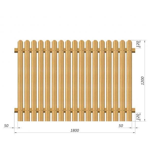 Terndrup Staket L180 x H120 cm