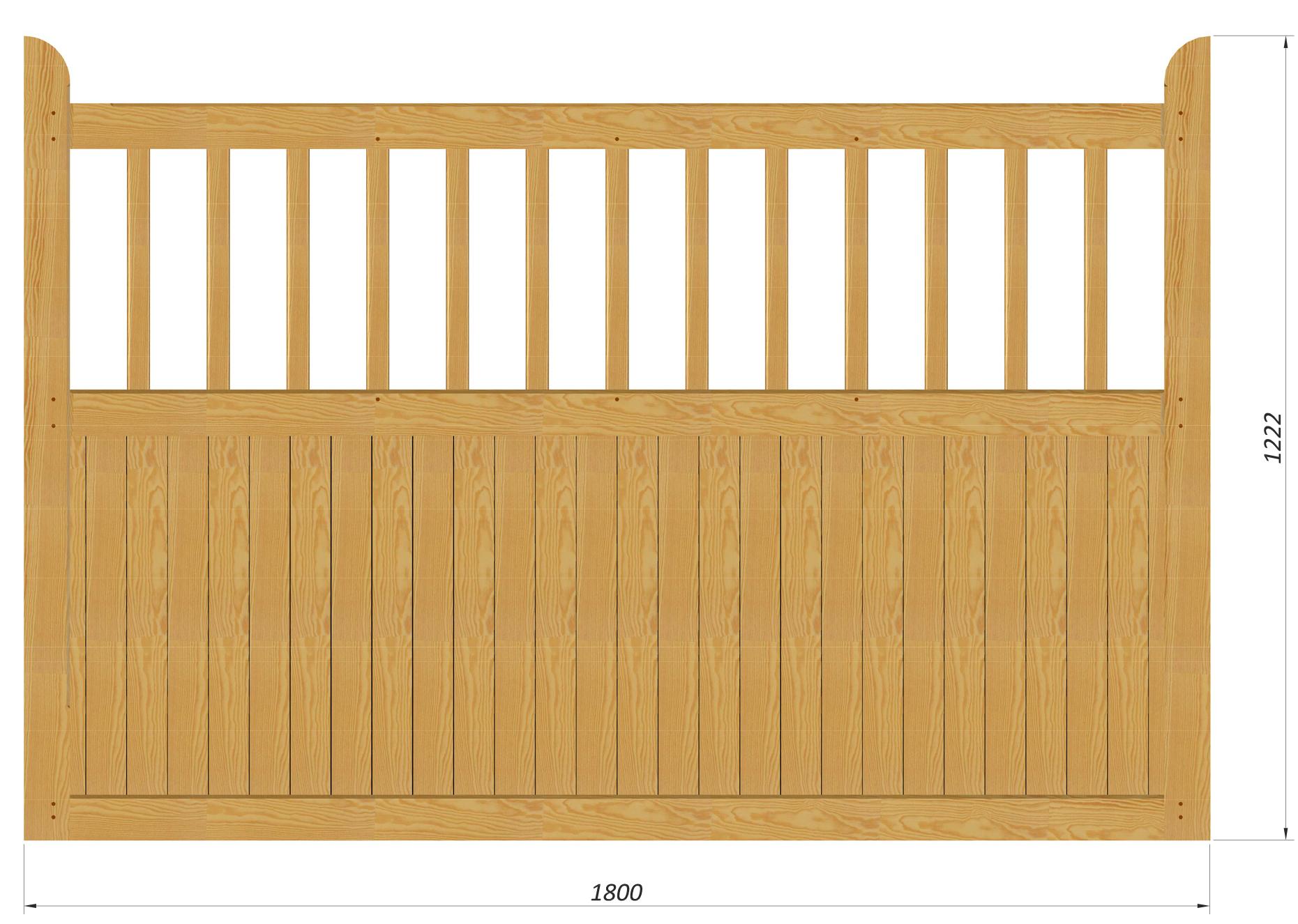 country garden stakit 180 cm ekstra solidt hegn i tr. Black Bedroom Furniture Sets. Home Design Ideas